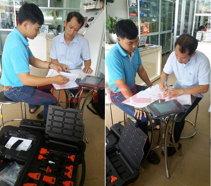 Bàn giao Autel MaxiSys MS906 garage An Hòa Đồng Nai
