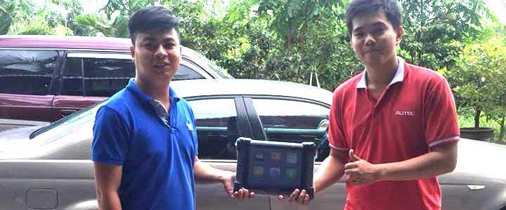 Bàn giao Autel MaxiSys Pro MS908P gara anh Vương tại Kiên Giang