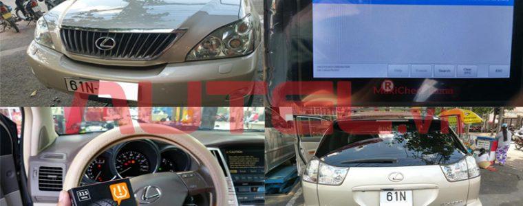 Autel MaxiCheck MX808TS cài đặt cảm biến áp suất lốp Lexus RX350 2008