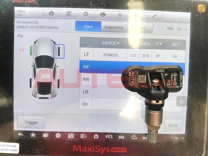 cảm biến áp suất lốp Lexus RX350
