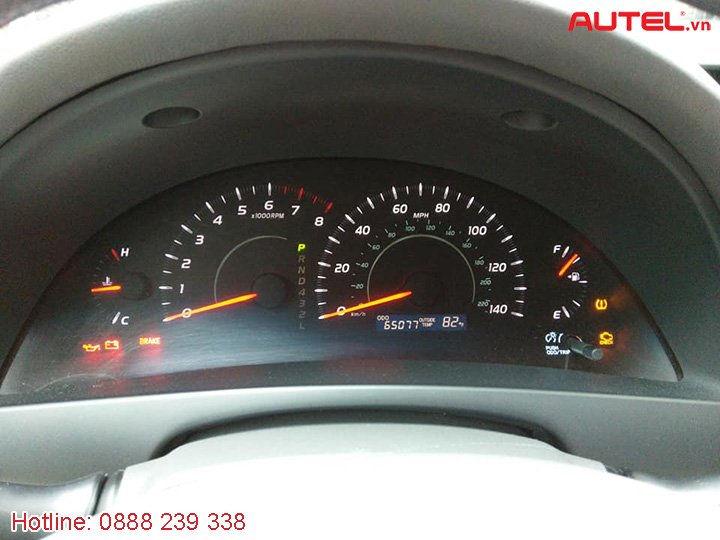 Autel Maxisys MS906TS cài đặt cảm biến áp suất lốp Toyota Camry 2007