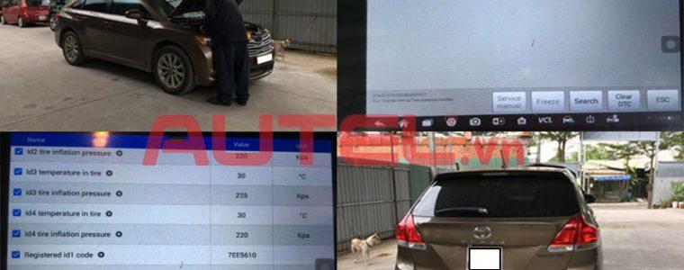 Autel Maxisys MS906TS cài đặt cảm biến áp suất lốp Toyota Venza