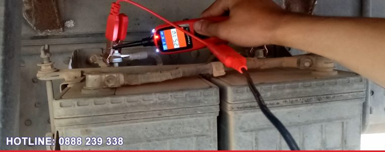 Video Autel PowerScan PS100 đo điện xe tải ISUZU 24V