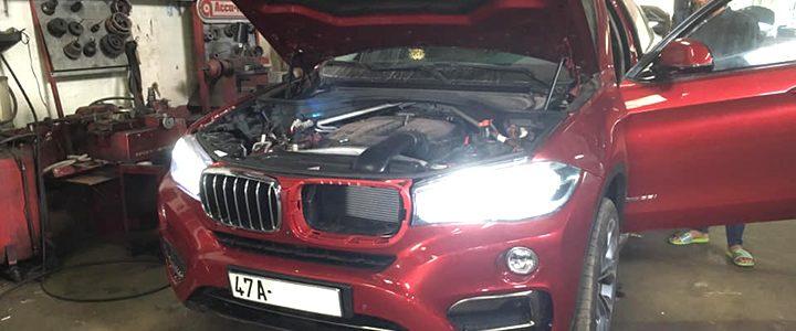 Cài đặt lại hộp Led Main Light xe BMW X6 2015