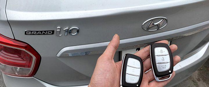 Cài chìa khóa thông minh Hyundai I10