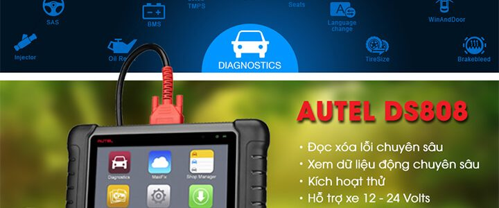 Review – Đánh giá máy chẩn đoán Autel MaxiDAS DS808