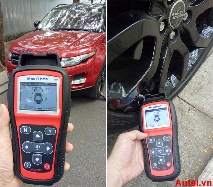 Kiểm tra cảm biến áp suất lốp Range Rover